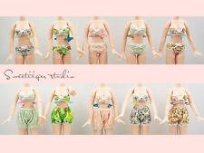"【Tii】swim bikini outfit 12"" 1/6 doll Blythe/Pullip/azone Clothes Handmade girl"