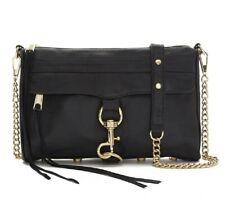 Rebecca Minkoff Womens M.A.C. black / gold chain crossbody bag $295 122465