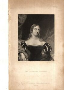 ANTIQUE PORTRAIT - COUNTESS GUICCIOLI - LORD BYRON'S MISTRESS AND BIOGRAPHER