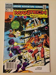 Mantech Robot Warriors #1  Archie Adventure Comics Ayers & Buckler - VF/NM 9.0