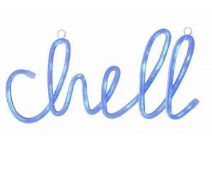 Wall Decor 36cm Neon Chill Light - Blue Sign Home Decor Decretive Pub Work