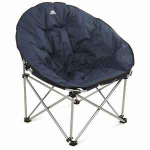 Trespass Folding Moon Chair Round Cushioned Camping Seat Tycho