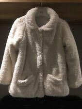 Fluffy Cream Winter Jacket, Next Girls Age 5-6