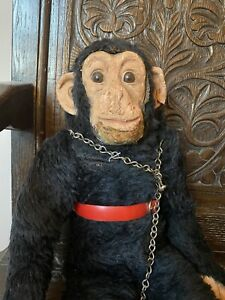 Dean's Rag Book Chimp Monkey Toy Incredibly Life-Like! Latex Face Hands Feet 22'