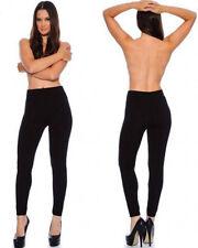 Lot Adult Full Length Opaque Fleece Leggings Pants Winter Footless Warm One Size