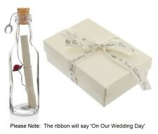 Personalised Wedding Day Gifts Message in a Bottle for Bride, Groom Gift