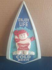 (Vtg) 1950s Miller high life Beer Snowman vacuform plastic 3-D sign bar wi