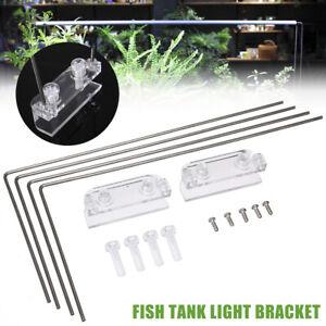 Stainless Steel Aquarium  Tank Lamp Bracket Rack LED Light Bracket Stand Holder