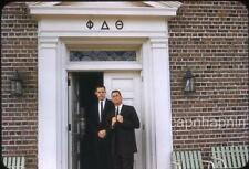 Fraternity Brothers Theta Delta Phi House UNC Chapel Hill NC 1950s Slide Photo