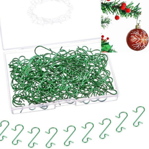 Christmas Decor Accessories Green S-shaped Hook Christmas Tree Link Hook Supplie