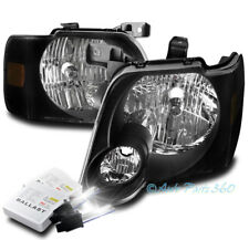FOR 06-10 FORD EXPLORER/07+ SPORT TRAC REPLACEMENT HEADLIGHT LAMP BLACK W/6K HID