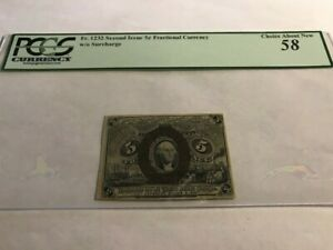 Fr 1232 .5c 1863 Fractional Currency Second Issue PCGS 58 comment w/o surcharge