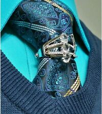 New neck tie ring pin cuff links Mikayla Tie Bling clip tack saddle seat reed