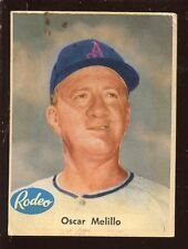 1955 Rodeo Meat Kansas City Athletics Baseball Card Oscar Melillo
