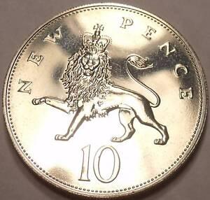 Camée Preuve Grande-Bretagne 1982 10 Pence ~ Seulement 107,000 Minted ~