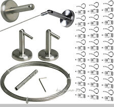 """Ikea DIGNITET Riktig Curtain Wire 197 """"+ 24 Rings with Clips + Corner piece Set"""