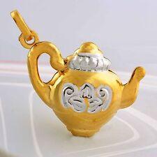 Gold Filled 2-Tone, P0544 Aladdin Megic lamp Pedant 9K