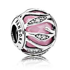 New Authentic Pandora Nature's Radiance Pink Clear Charm with POUCH 791969PCZ