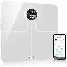 Rollifit F6 Premium Smart Escala Escala De Gordura Corporal Com Extra Grande Exposição Branco