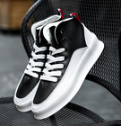 Mens Lace Up High Top Sneakers Athletic Flat Heels Casual Shoes Running Size M61