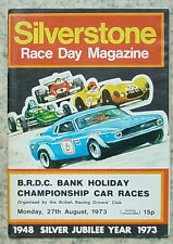 SILVERSTONE 27 Aug 1973 BRDC BANK HOLIDAY CHAMPIONSHIP CAR RACES Programme