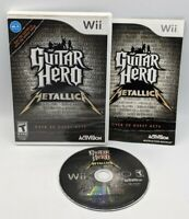 Guitar Hero Metallica For Wii Complete w/Case, Instruction Booklet Game Tested