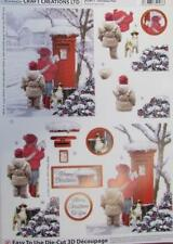 3D A4 Die Cut Paper Tole Decoupage Christmas Post 1 pictures No Cutting NEW