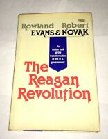 The Reagan Revolution Robert Novak 1981 Ronald Reagan George Bush 1st Ed. Rare