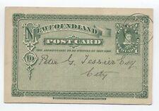 1895 Newfoundland 1 cent postal card UX3 used [y5596]