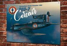 Plaque métal 40x30cm Corsair F4U-7 aéronautique navale Française, porte-avions