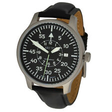 ARISTO Unisex Automatic Pilot's Watch Model 3H116LS Stainless Steel Leather 5ATM