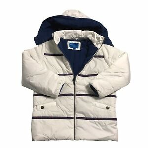 Perry Ellis Lightweight Water Resistant White Puffer Coat Toddler Boys Size 5 7