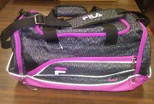Fila Filatech Sprinter Black/Gray & Purple Medium Size Duffle Gym Bag NWOT