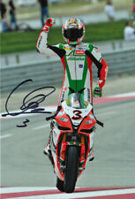 Max Biaggi Signed 8X12 inches Aprilia Alitalia Racing Photo