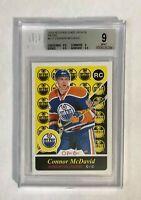 2015 O-Pee-Chee Update Retro SP Connor McDavid BGS 9, card #U11 Oilers