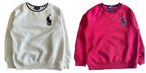 Boys Ex Ralph Lauren Big Pony  Fleece backed Sweatshirt 4 7 8 9 10 14 genuine