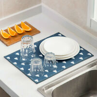 Household Microfiber Dish Drying Mat Kitchen Sink Drainer Tea Towel Brilliant