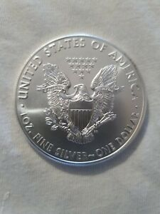 1 Oz American Eagle Silver Coin (2021) (USA) In Free Capsule ,