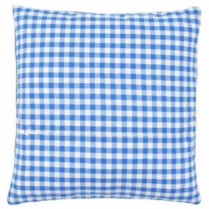"""Cushion finishing Kit With Zipper Use with Vervaco kits 16x16"""" Blue Check Design"""