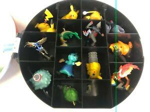 Pokemon Figures & Toys LOT w/ Pokeball Carrying Case - (Pikachu x3, Tepig, etc.)