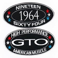 1964 PONTIAC GTO SEW/IRON ON PATCH EMBROIDERED BADGE EMBLEM
