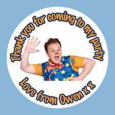 35 x Personalised Mr Tumble Justin Birthday Stickers Party Bag Thank You 357