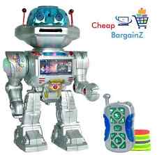 Rc Control Remoto Robot brotes Frisbees, paseos, Tobogán, bailes, reproduce música del Reino Unido