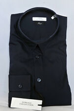 NWT!! $285 VERSACE  Collection Shirt Dark Blue Color Sz 40 15-1/2