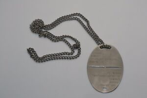 Vintage and Original 1930's/40's Swiss Army Dog Tag #1