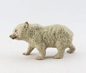 alte Massefigur Tierfigur Eisbär Bärenkind Polarbär Eisbärenkind Antakrtis Zoo
