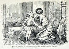 MOTHER AND DAUGHTER 1913 Arthur Wallis Mills  PUNCH CARTOON PRINT