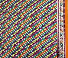 """42"""" Wide Dressmaking Multicolor Cotton Geometric Printed Fabric For Sewing By 1"""