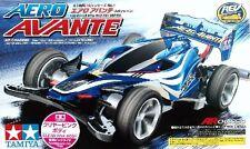 TAMIYA 1:32 MINI 4WD AERO AVANTE AR CHASSIS CLEAR PINK BODY CON MOTORE  95058