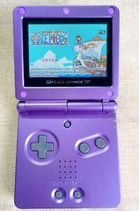 Purple Super Mario Game Boy Advance GBA SP Console AGS 101 Brighter Backlit